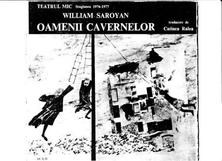 """Cum se ambaleazã nostalgia:""""Oamenii cavernelor"""" la Teatrul Mic ȋn 1976"""