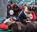 """The """"Bear"""" Totem, kept in the tradition of the Romanian winter holidays"""